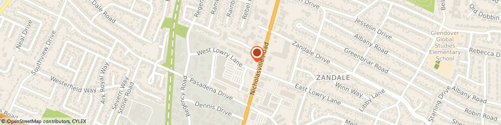 Route/map/directions to Fifth Third Bank & ATM, 40503 Lexington, 2295 Nicholasville Road