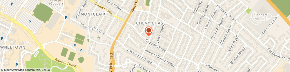 Route/map/directions to Creekview Corporation, 40522 Lexington, STREET