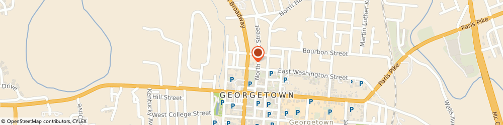 Route/map/directions to Valero GEORGETOWN, 40324 Georgetown, 208 N Broadway St