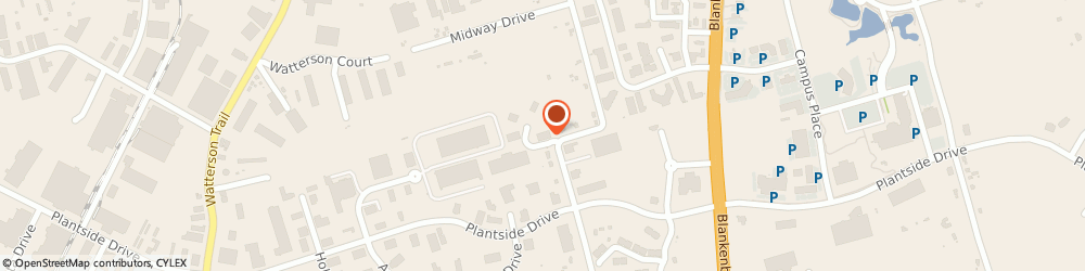 Route/map/directions to Storage Concepts Incorporated, 40299 Louisville, 11921 CARRIER COURT