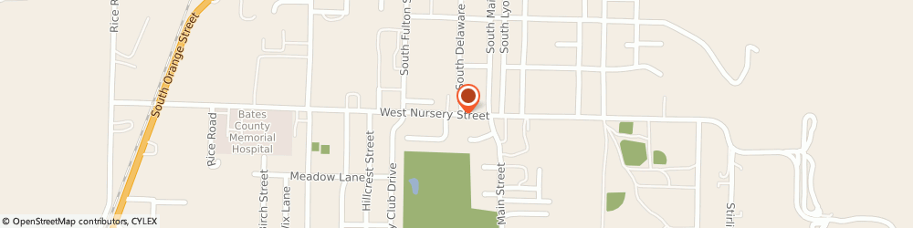 Route/map/directions to Butler Church of the Nazarene, 64730 Butler, 110 W. Nursery