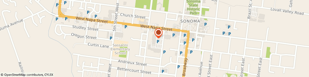 Route/map/directions to Sonoma Optometry Center, 95476 Sonoma, 201 WEST NAPA STREET SUITE 3