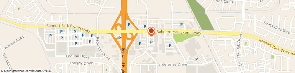 Route/map/directions to US BANK, 94928 Rohnert Park, 6340 COMMERCE BOULEVARD.