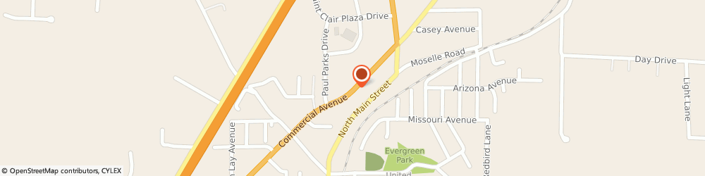 Route/map/directions to American Express Financial Advisors, 63077 Saint Clair, 800 NORTH COMMERCIAL AVENUE