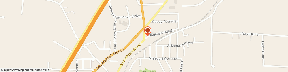 Route/map/directions to US BANK, 63077 Saint Clair, 900 NORTH MAIN STREET