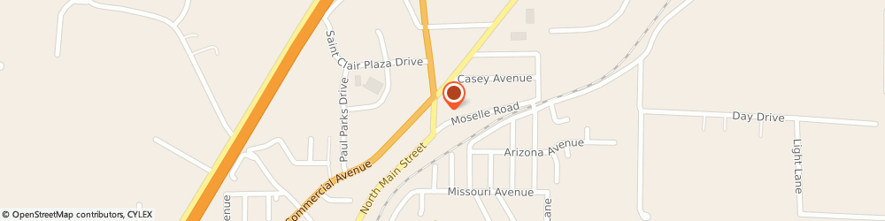 Route/map/directions to Citibank ATM, 63077 Saint Clair, 900 North Main Street