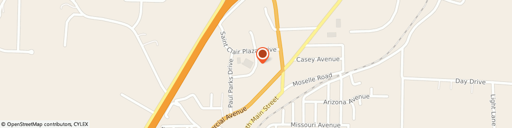 Route/map/directions to Navy Federal Credit Union, 63077 Saint Clair, 905 Plaza Drive