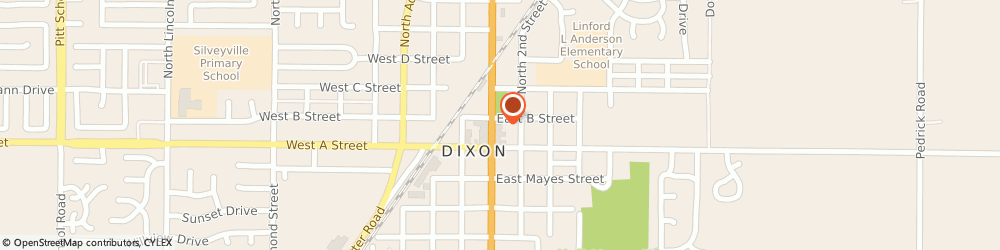 Route/map/directions to Bank of America, 95620 Dixon, 178 N 1ST ST