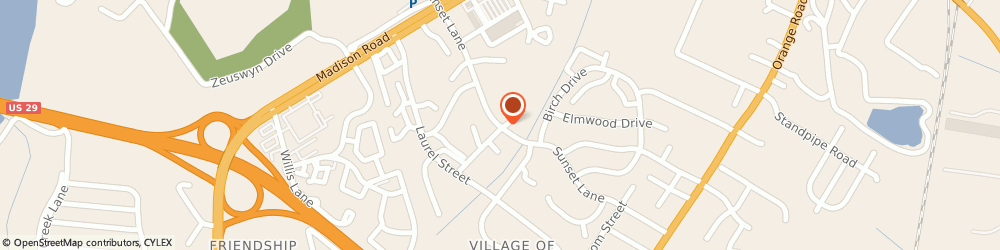 Route/map/directions to About My Health Hair Follicle Drug Testing, 22701 Culpeper, 502 Sunset Ln