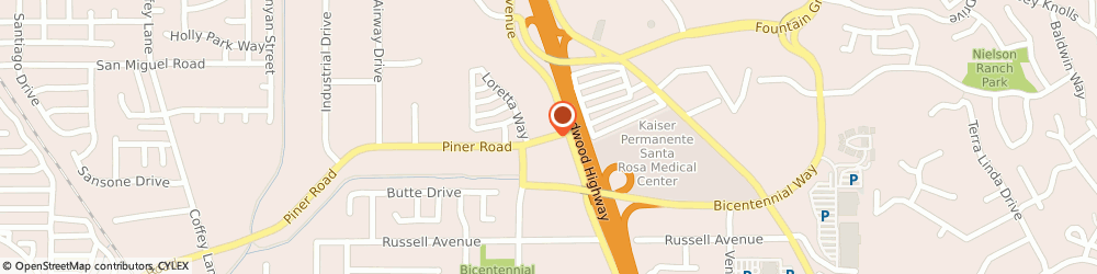 Route/map/directions to Valley Tire & Brake, 95403 Santa Rosa, 1688 Piner Road