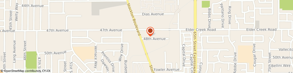 Route/map/directions to U-Haul Moving & Storage at 47th Ave & Stockton Blvd, 95823 Sacramento, 6425 Stockton Bl
