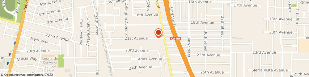 Route/map/directions to Phillips Ethel Elementary School, 95820 Sacramento, 2930 21ST AVENUE