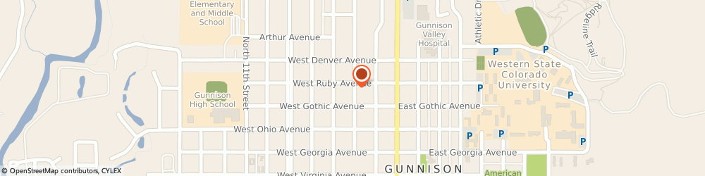 Route/map/directions to Trinity Baptist Church, 81230 Gunnison, 523 N Pine St