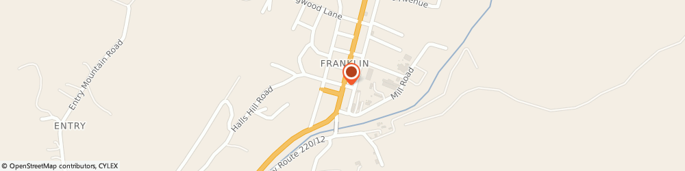 Route/map/directions to About My Health Hair Follicle Drug Testing, 26807 Franklin, 100 S Main St