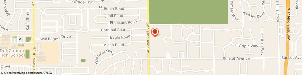 Route/map/directions to Check `n Go, 95628 Fair Oaks, 4886 San Juan Ave.