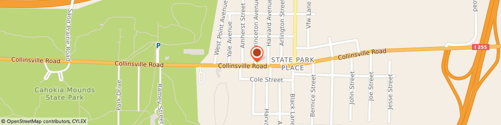 Route/map/directions to bp, 62234 Collinsville, 8407 Collinsville Road