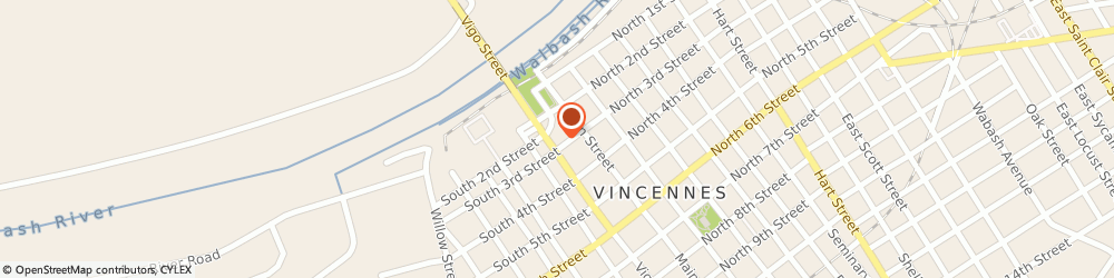 Route/map/directions to Regions Vincennes, 47591 Vincennes, 33 S. Third Street