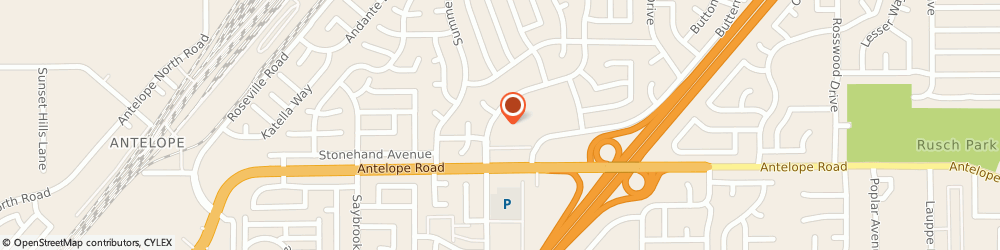 Route/map/directions to United States Postal Service, 95621 Citrus Heights, 7828 Zenith Dr