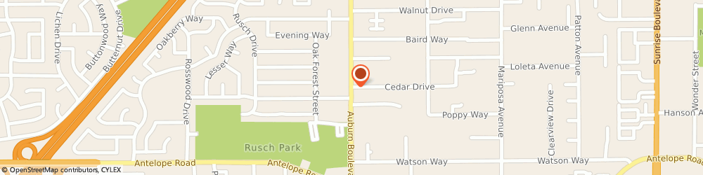 Route/map/directions to Radio Shack, 95610 Citrus Heights, 7975 AUBURN BLVD