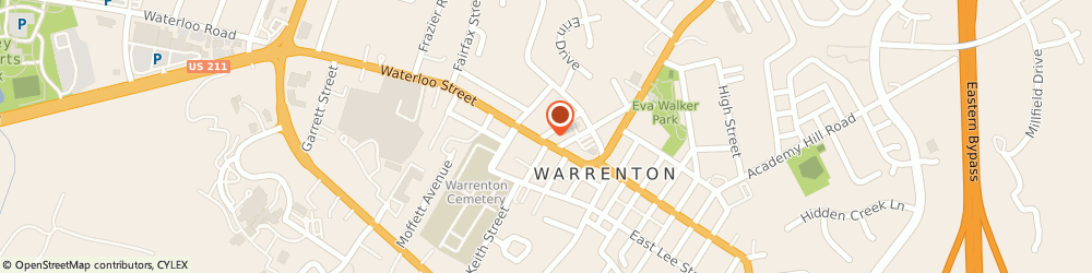 Route/map/directions to Napoleons Restaurant, 20186 Warrenton, 67 WATERLOO STREET