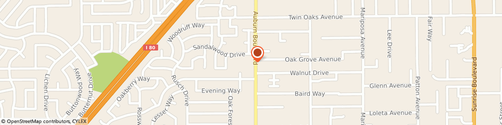 Route/map/directions to Baskin-Robbins, 95610 Citrus Heights, 8215 Auburn Blvd