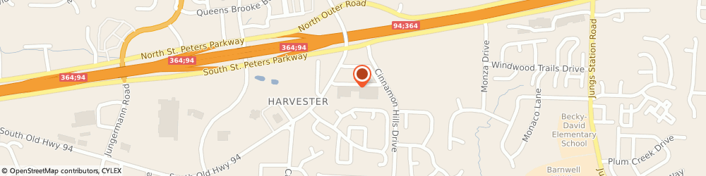 Route/map/directions to Great Clips, 63303 Harvester, 36 B-1 Harvester Sq