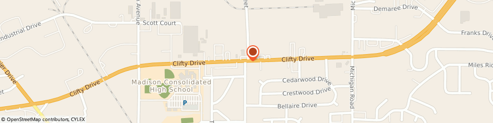 Route/map/directions to Cvs Pharmacy - Madison Store, Pharmacy, Hanover, Madison, Store, 47250 Madison, CLIFTY DRIVE & CRAGMONT