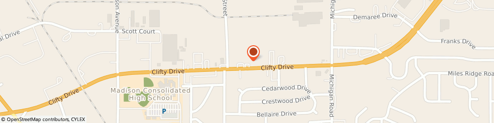 Route/map/directions to O'reilly Auto Parts, 47250 Madison, 424 Clifty Drive