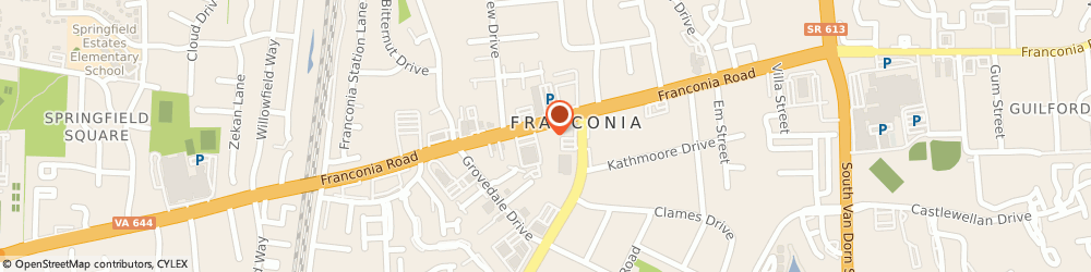Route/map/directions to Franconia International Shell, 22310 Alexandria, 6117 FRANCONIA RD