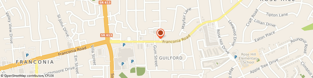 Route/map/directions to Shell, 22310 Alexandria, 5500 Franconia Road
