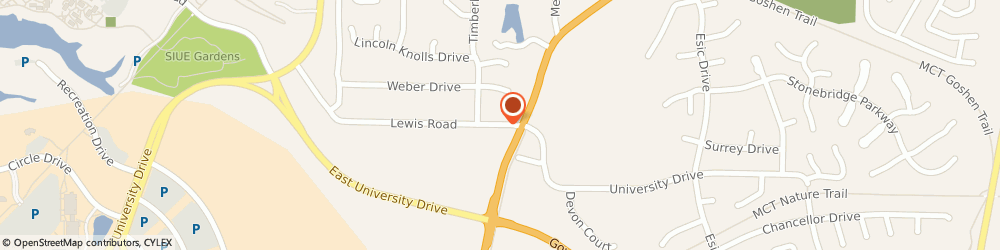 Route/map/directions to US BANK, 62025 Edwardsville, 1411 LEWIS ROAD