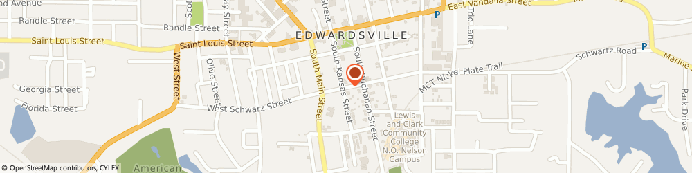 Route/map/directions to US BANK, 62025 Edwardsville, 209 EAST SCHWARZ ROAD