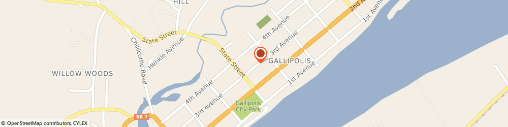 Route/map/directions to Citibank ATM, 45631 Gallipolis, 420 Third Ave