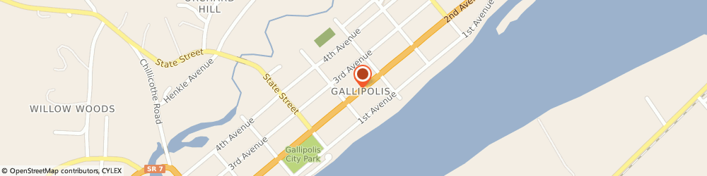Route/map/directions to Citibank ATM, 45631 Gallipolis, 518 Second Avenue