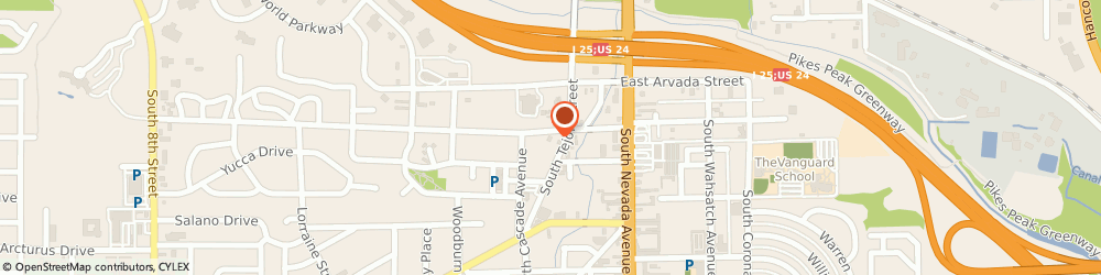 Route/map/directions to CoinFlip Bitcoin ATM, 80905 Colorado Springs, 1502 S Tejon St