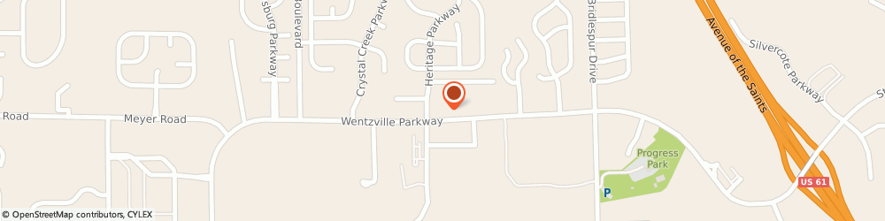 Route/map/directions to Circle K, 63385 Wentzville, On The Run, 1235 Wentzville Pkwy