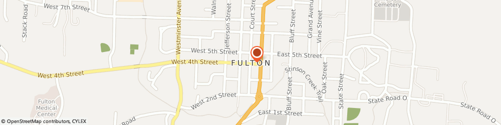 Route/map/directions to Callaway Memorial Gardens, 65251 Fulton, 1700 Us Business Highway