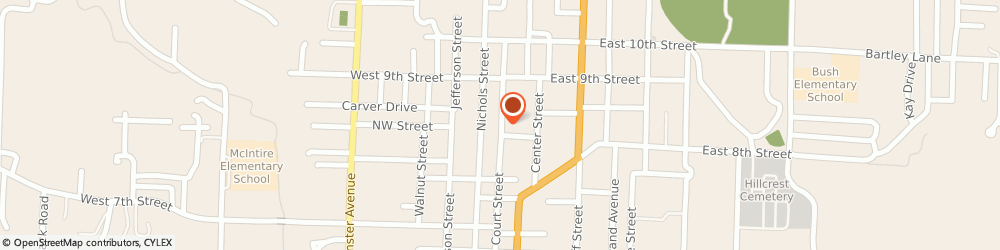 Route/map/directions to Debo Funeral Home, 65251 Fulton, 833 Court Street
