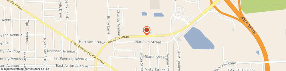 Route/map/directions to Radio Shack, 62095 Wood River, 1429 VAUGHN ST