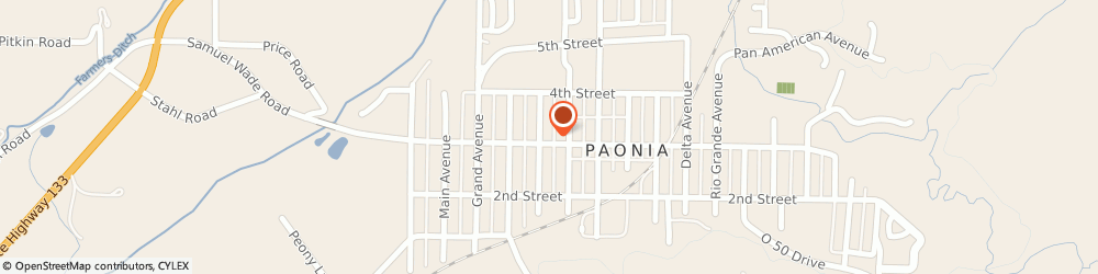 Route/map/directions to Friends Church, 81428 Paonia, 409 Third St