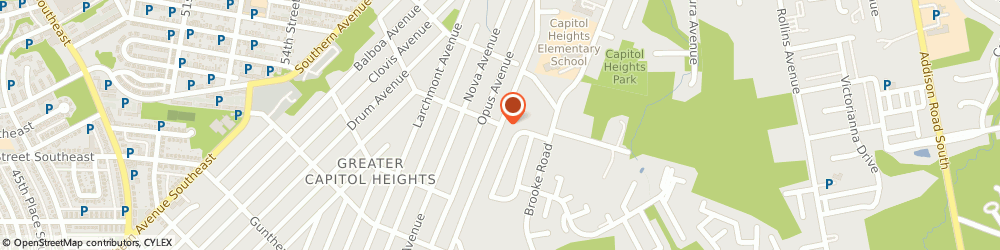 Route/map/directions to Eastern Walls & Ceilings, 20743 Capitol Heights, STREET
