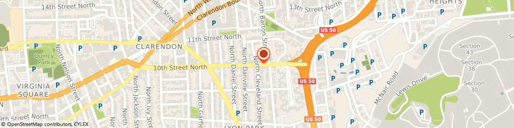 Route/map/directions to State Farm Insurance Companies, 22201 Arlington, 1001 N Cleveland St