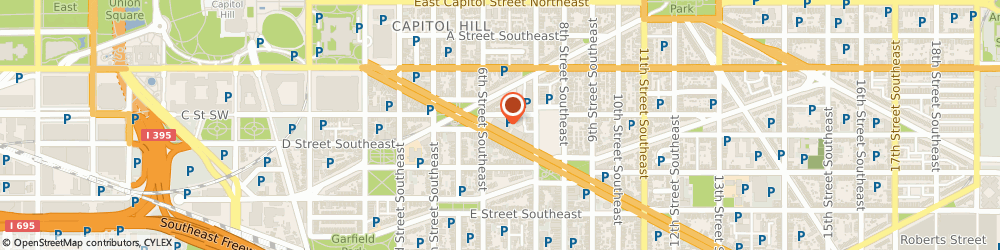Route/map/directions to Citibank, 20003 Washington, 600 Pennsylvania Ave Se