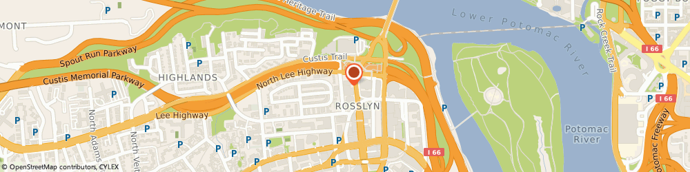 Route/map/directions to Holiday Inn Rosslyn @ Key Bridge, 22209 Arlington, 1900 N. Fort Myer Drive