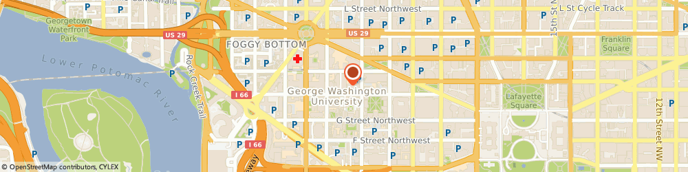 Route/map/directions to PEET'S COFFEE & TEA George Washington University, 20052 Washington, 2121 H Street, Nw