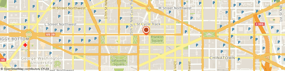 Route/map/directions to Panorama Productions, a DC Nightlife company, 20005 Washington, 1424 K Street, NW