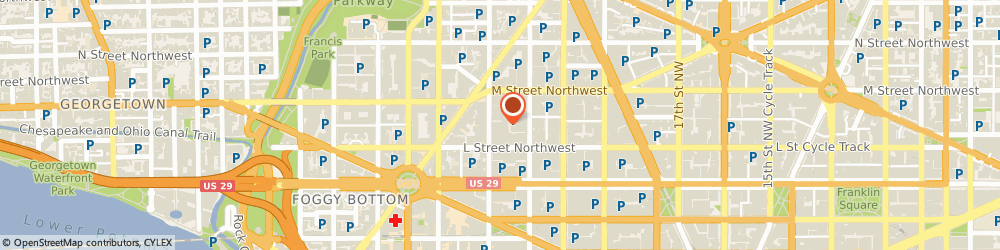 Route/map/directions to HANGER, 20036 Washington, 1133 21st Street NW