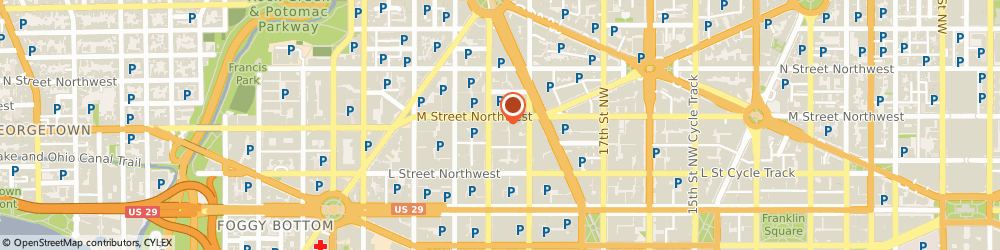 Route/map/directions to Citibank ATM, 20036 Washington, 1850 M St Nw