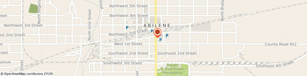 Route/map/directions to Safeco Insurance Agent, 67410-3054 Abilene, 110 N Buckeye Ave