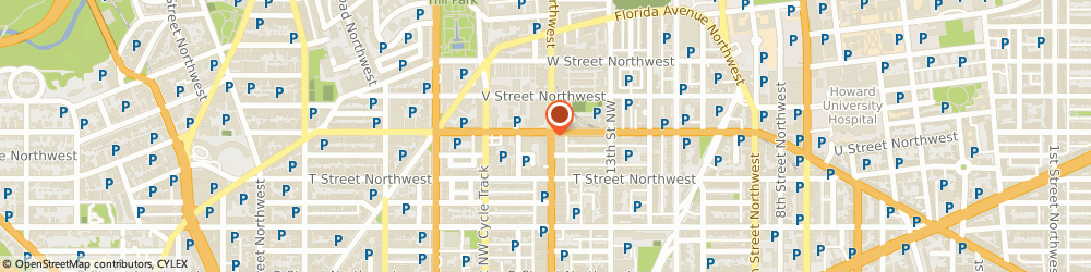 Route/map/directions to McDonald's, 20009 Washington, 1944 14th St NW